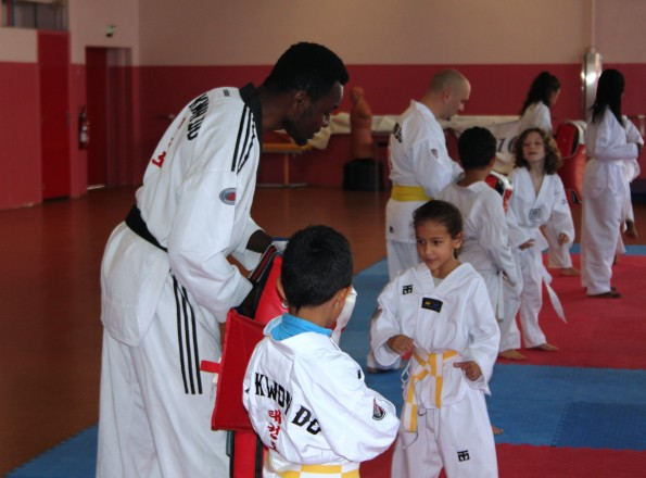 La section taekwondo du club Saint-Denis Union Sports